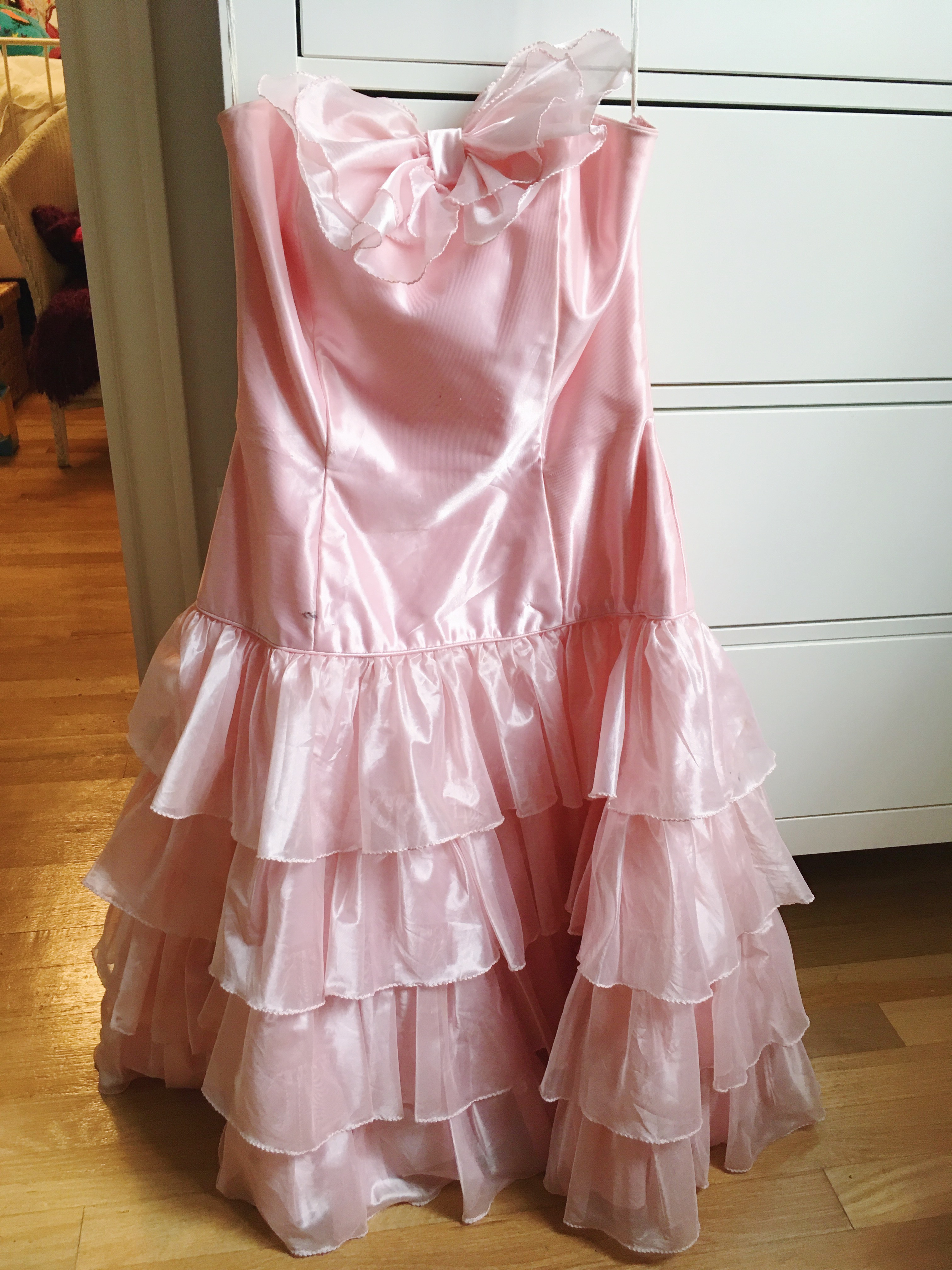 "Vintage Bridesmaid Dress for ""Toddlers & Tiaras"" Costume"